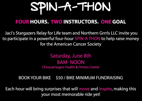 Join us for the Ride N' Raise Spin-A-Thon